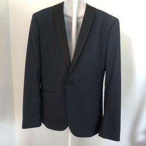 H & M Men's Regular Fit Black Tuxedo Jacket